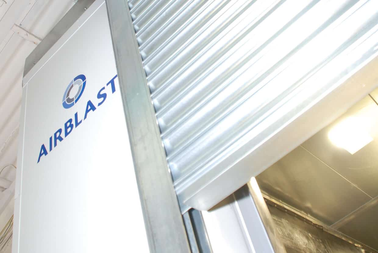 Blast room roller door external