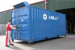 20ft containerised blast booth