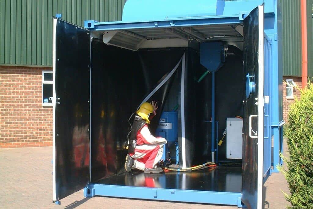 10ft shipping container blast booth