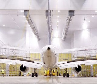 Airblast can build blast and spray booths large enough for aircraft