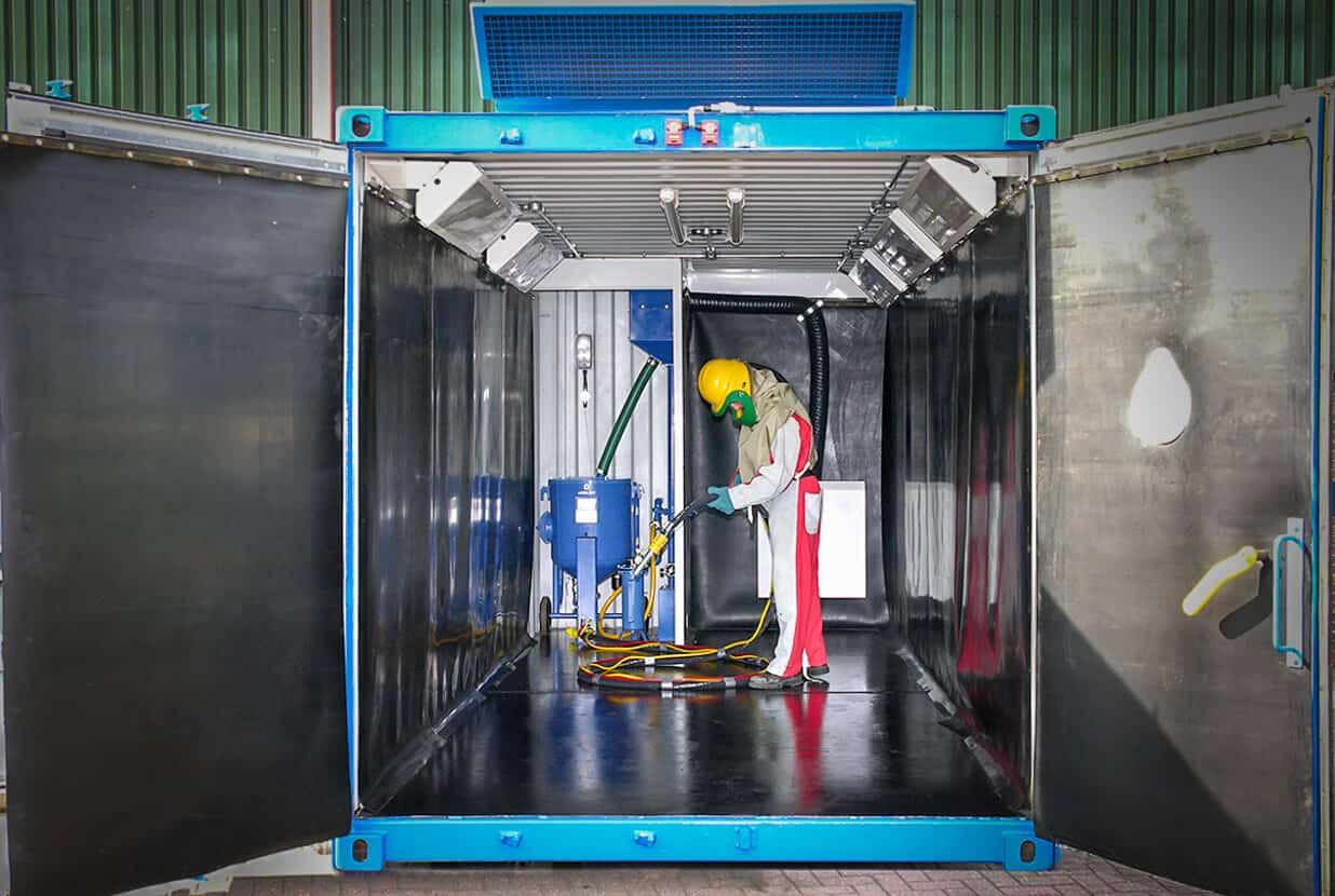Airblast Containerised Blast Room