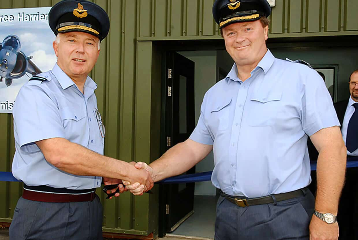 Airblast helped to create a paint facility at RAF Cottesmore.