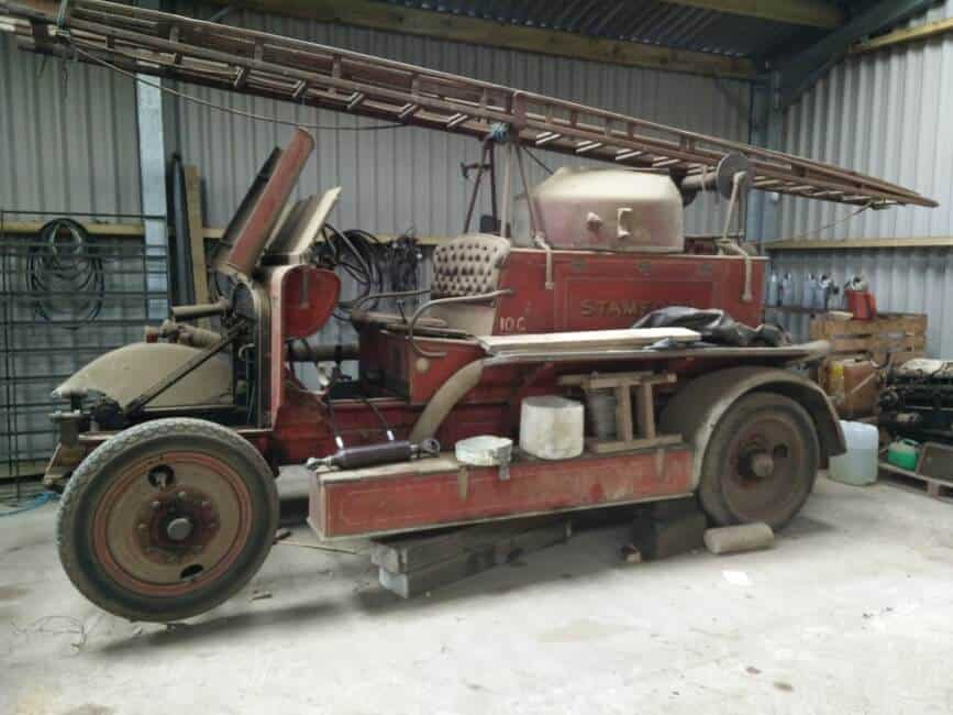 Vintage Merryweather Fire Engine Restored with Support from Airblast