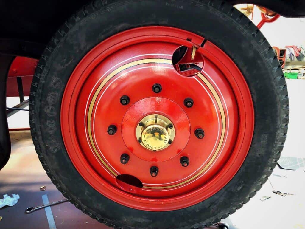 Cummins fire engine wheel after