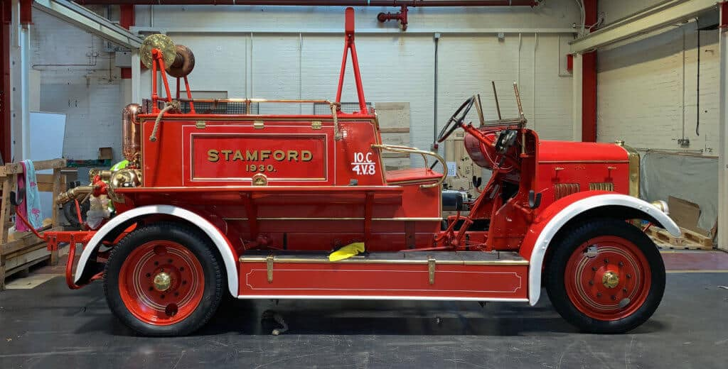 Fire engine restoration project completed