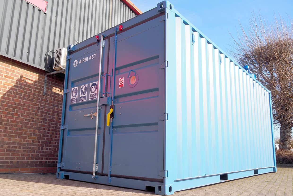 Containerised blast booth