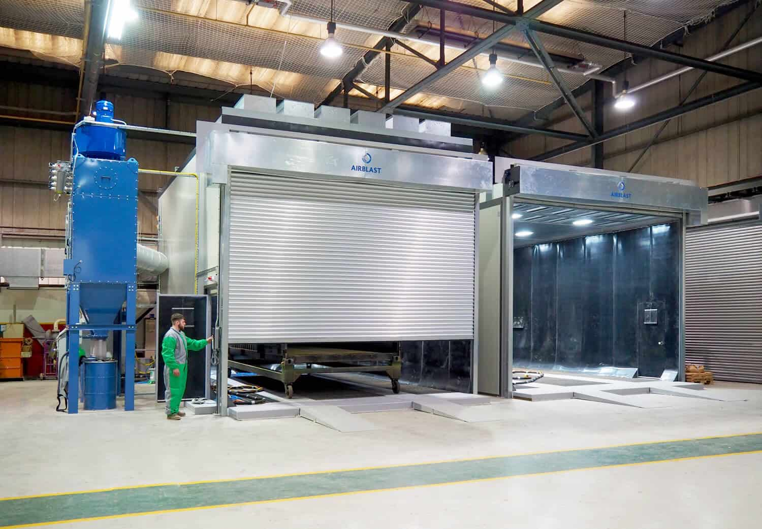 Airblast case study on improving the efficiency of an existing blast room and spray booth
